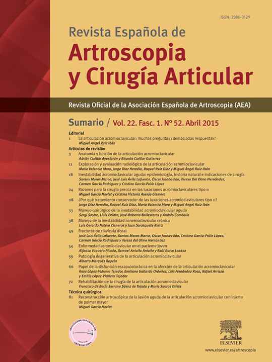 Portada REACA Vol. 22. Fasc. 1. Núm. 52. Abril 2015