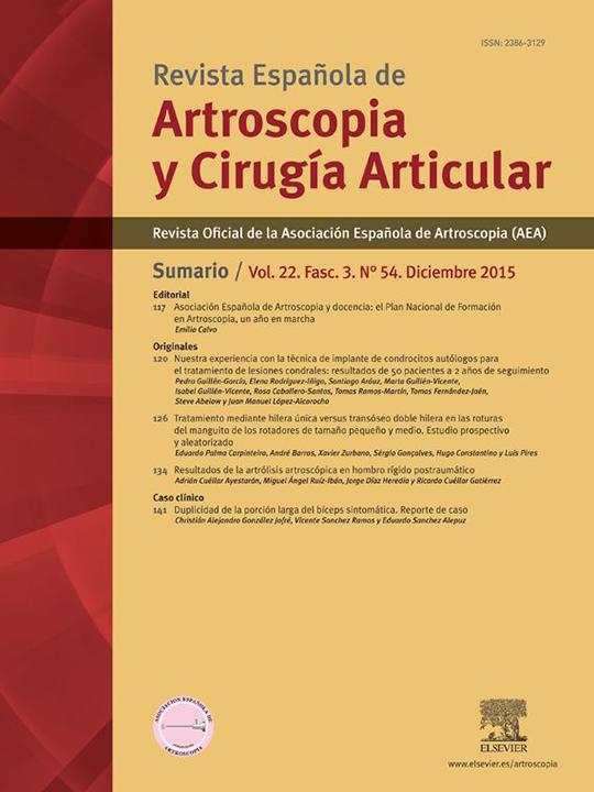 Portada REACA Vol. 22. Fasc. 3. Núm. 54. Diciembre 2015